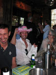 Jason gets the pink cowboy hat